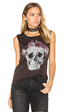 T-SHIRT FLOWER CROWN SKULL