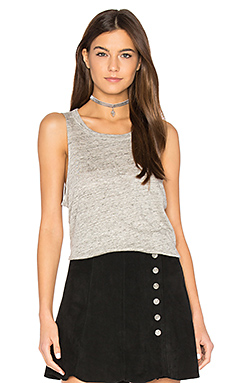 Pocket Shirttail Muscle Tee en Gris Chiné