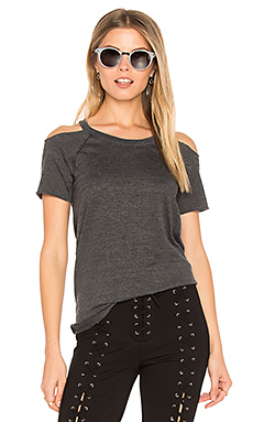 Cold Shoulder Raglan Tee en Noir