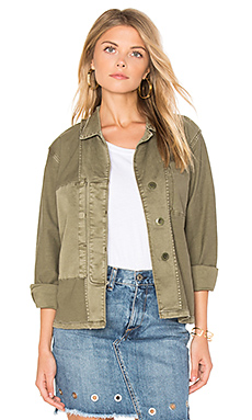 The Reversed Military Shirt Jacket en Kaki