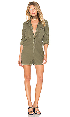 The Reversed Military Romper en Kaki