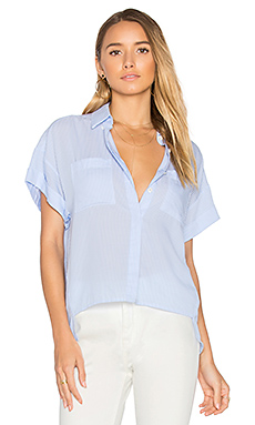 Bellport Loose Button Up – Blue & White Stripes