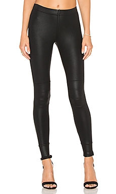 Coated Moto Legging in Classic Black
