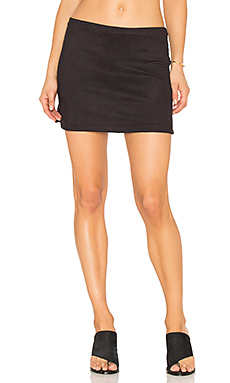 High Low Rounded Hem Skirt in Classic Black