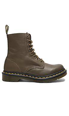 Pascal 8 Eye Boots in Grenade Green