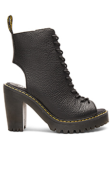 Carmelita Open Heel Lace Up Boot en Noir