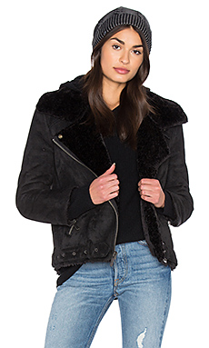 Veronica Jacket With Faux Fur Lining in Black