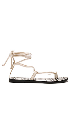 Chandler Sandal in Off White Leather