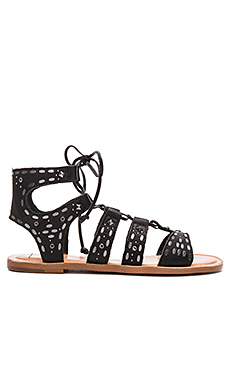 Jazzy Sandal in Black Leather