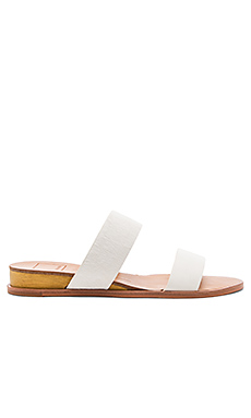 Payce Cow Hair Sandal in White