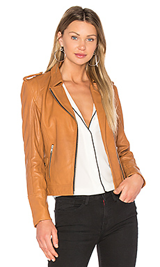 Biker Jacket in Camel