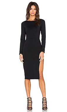 Side Slit Midi Dress – 黑色