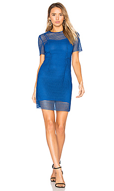 Chain Lace Dress in French Blue