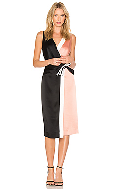 Taped Wrap Dress – Black, Dusty Rose & Ivory