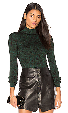Tess Metallic Sweater en Black & Green