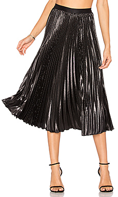 Heavyn Lurex Skirt en Noir