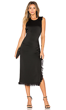 Adriene Side Split Dress en Noir