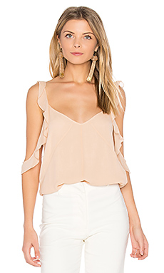 Cheryl Ruffle Tank in Biscuit