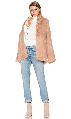 Denver Rabbit Fur Jacket in Mauve