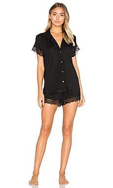 Adeline Lace PJ Set in Black