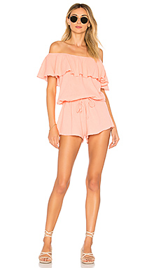 Dancing In The Waves Romper in Brown. - size M (also in L,S,XS) Free People