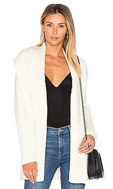 Johanna Rib Cardigan in Off White
