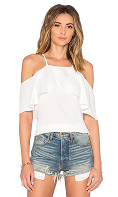 Stella Cold Shoulder Top en Blanc