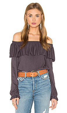 Gioannia Off Shoulder Top en Lilas