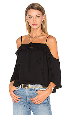 Stella Cold Shoulder Top in Black