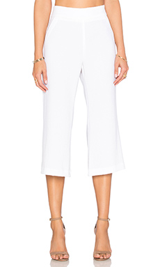 Cropped Flare Trouser Pant in Cloud