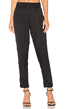 Pleated Easy Pant in Black