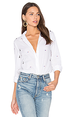 Leema Parisian Button Up en Imprimé Blanc