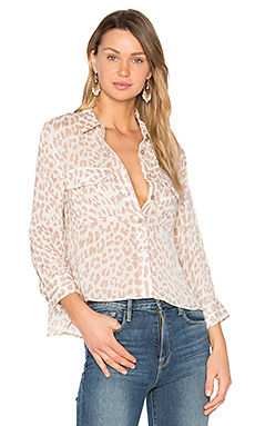 Cropped Giraffe Signature Button Up en Amethyst Fog Multi