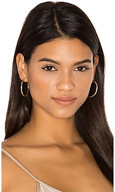 Hoop X Earrings en Or
