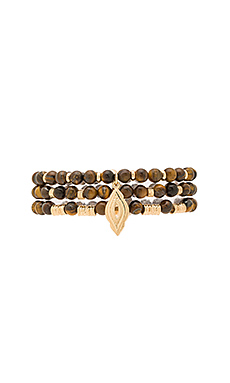 Wood Bead Bracelets in Natural Wood