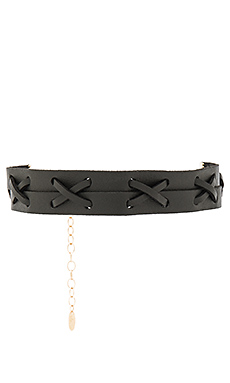 Leather Choker en Noir
