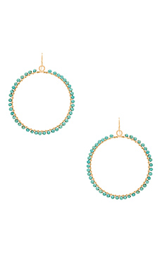 Beaded Hoop in Turquoise