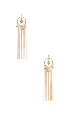Circle Charm Tassel Earring en Or