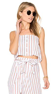 Balmy Top en Imprimé Natural Bay Stripe