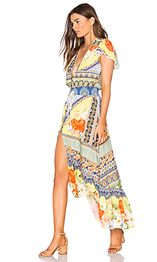 Maria Flower Cropped Dress en Maria Flower Saffron