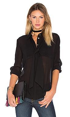 Le Chiffon Tie Blouse en Noir