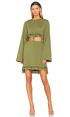 Kimono Suspender Dress en Olive Branch