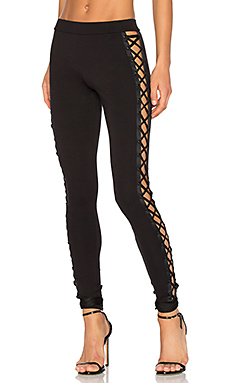 Lacing Legging in Black