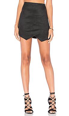 Crisscross Angled Skirt in Black