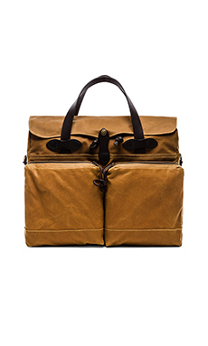 24 Hr Tin Cloth Briefcase en Dark Tan