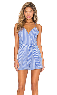 Blow Your Mind Romper en Rayé Bleu