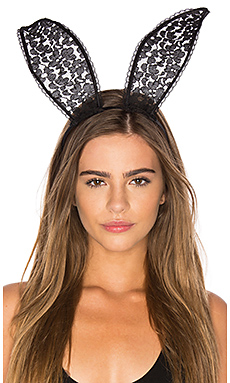 Lace Bunny Ears – 黑色