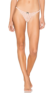 Crochet Lace Simple Thong en Blush
