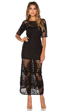 Gracey Midi Dress in Black
