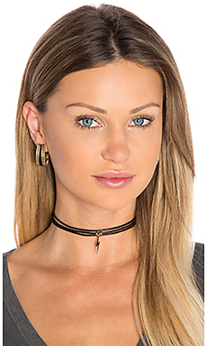 3 Wrap Ransom Choker in Black Lightning